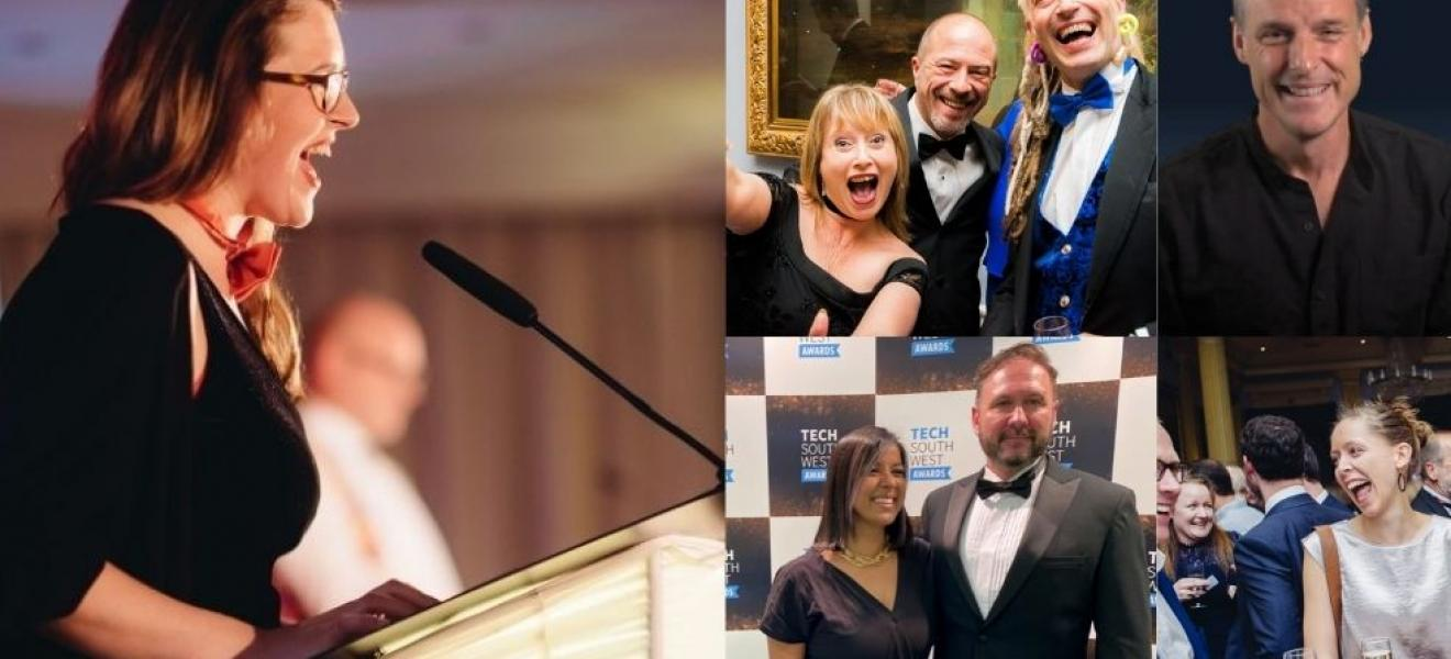 A collage showing images from the awards in previous years