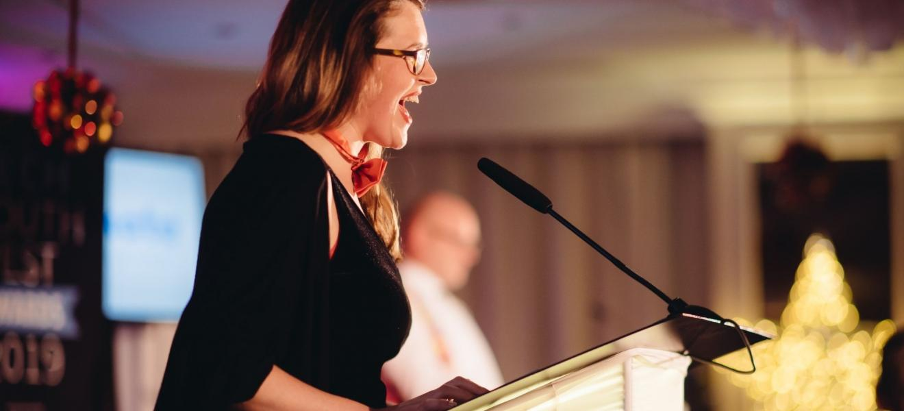 Vicky Hunter of Tech Nation SW, co-host at the Tech South West Awards 2019