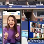 Filmily app being used at the US Open