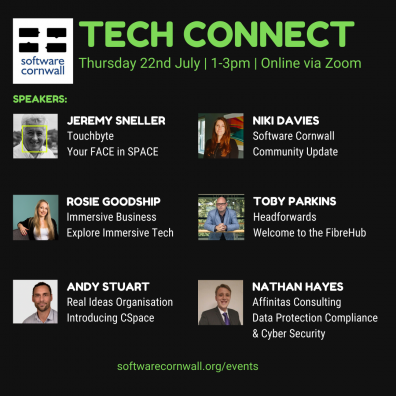 Software Cornwall's Tech Connect Event, July 2021