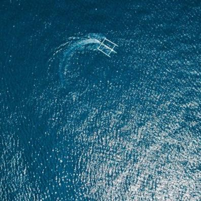 A catamaran from above