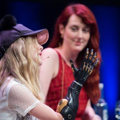 Tilly Lockey & Samantha Payne at the SingularityU The Netherlands Summit 2016