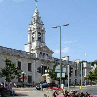 Torquay Town Hall, headquarters of Torbay Council
